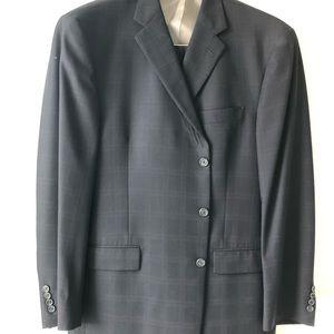 Hart Schaffner Marx 46R Suit And Pants 40 Navy